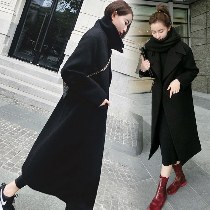 Knn0Z Outono e meados de comprimento inverno coreano Windbreaker engrossar fina lã casaco casaco de lã estilo casaco de lã woolwindbreaker das mulheres
