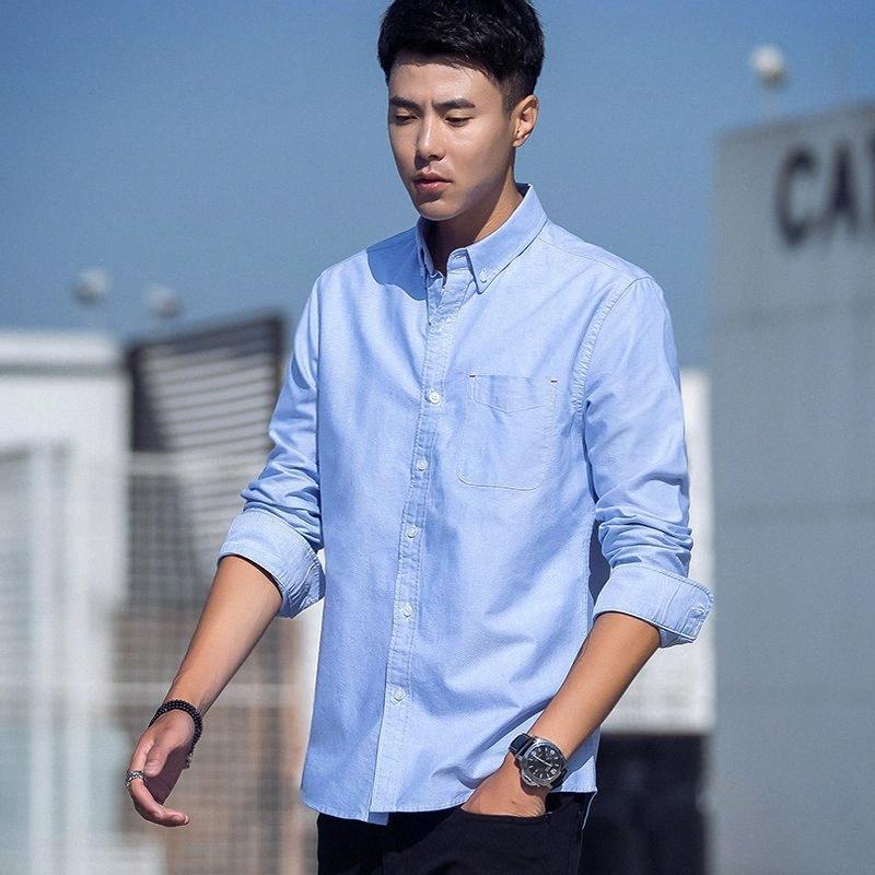 homens venda quente de negócio ocasional esperto manga comprida camisa oxford clássicas masculinas vestido social, camisas 100% algodão topos sólidos camisa de base xi3s #