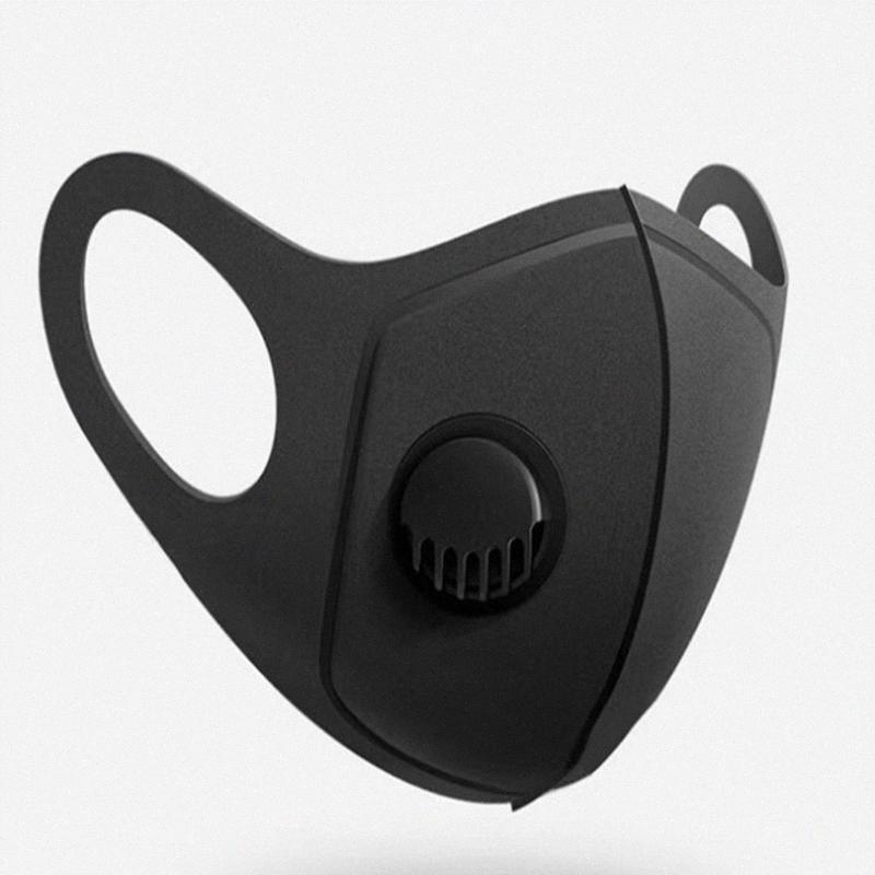 Маски для лица с дыханием клапан пыли Haze Adult маска Трехмерные моющийся многоразовый Велоспорт Маски YYA114 D9zF #
