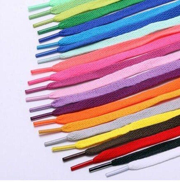 De alta calidad de poliéster plana zapatillas de deporte cordones de los zapatos deportivos más coloridas 80cm cordón de zapato sólido ocasional