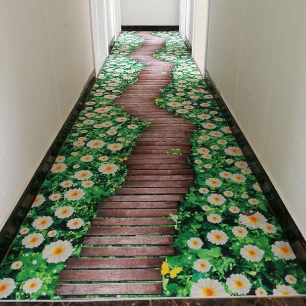 creativo Zerbino impianto tappeto 3D stampa Corridoio Tappeti da letto Soggiorno Tea Table Tappeti Cucina Bagno antiscivolo Mats Y200416