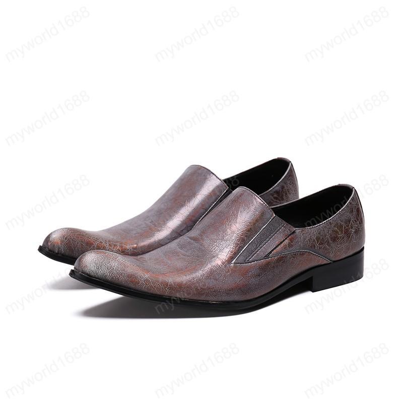 Плюс Размера Остроконечных Toe натуральной кожи Мужских обувь партии Handmade Fashion Man Пром зал Обувь Люди Формальная обувь
