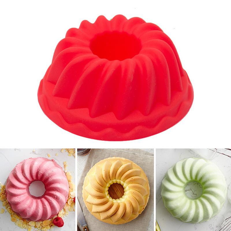 12Grids Silicone Non-Stick Cake Mold Biscuit Dessert Bakeware DIY Baking Gadgets