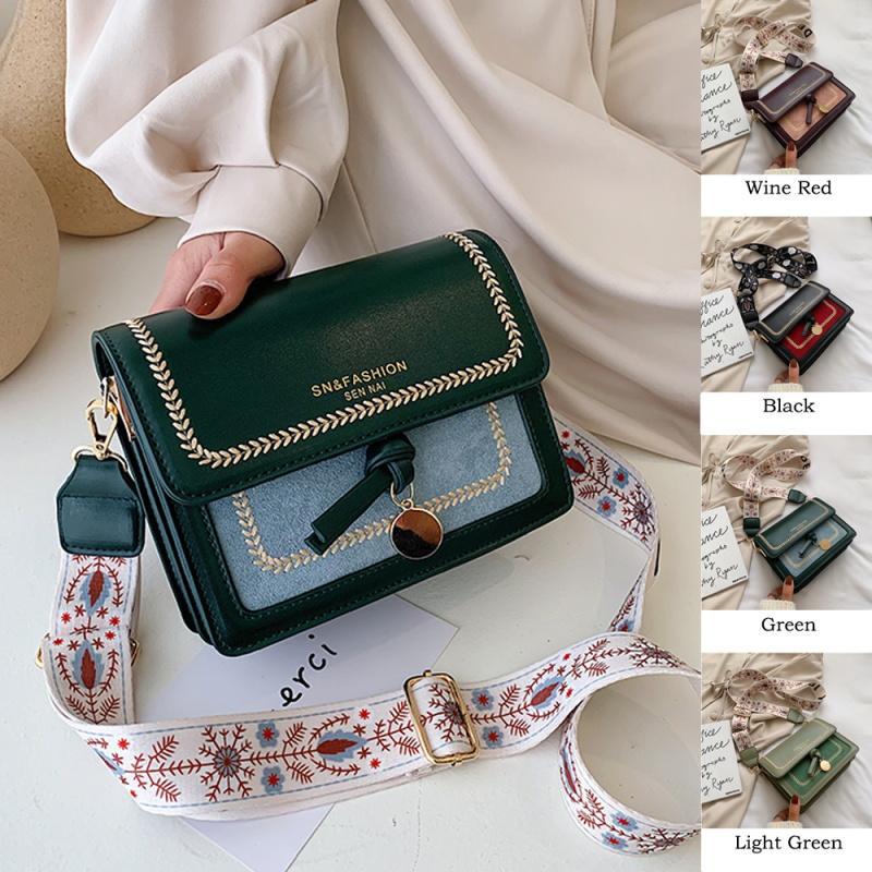 2020 yeni Mini Scrub Deri Kadınlar Omuz Çantası Tasarımcı Crossbody Çanta Lüks Çantalar Cüzdanlar Geniş Kayış Moda Seyahat Bayanlar Bags Omuz