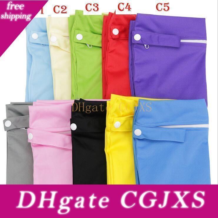 Baby Diaper Bags Nappy Stackers Bags Waterproof Diaper Organizer Portable Zipper Infant Stroller Cart Bags Wet Dry Cloth Storage Bag Gga462