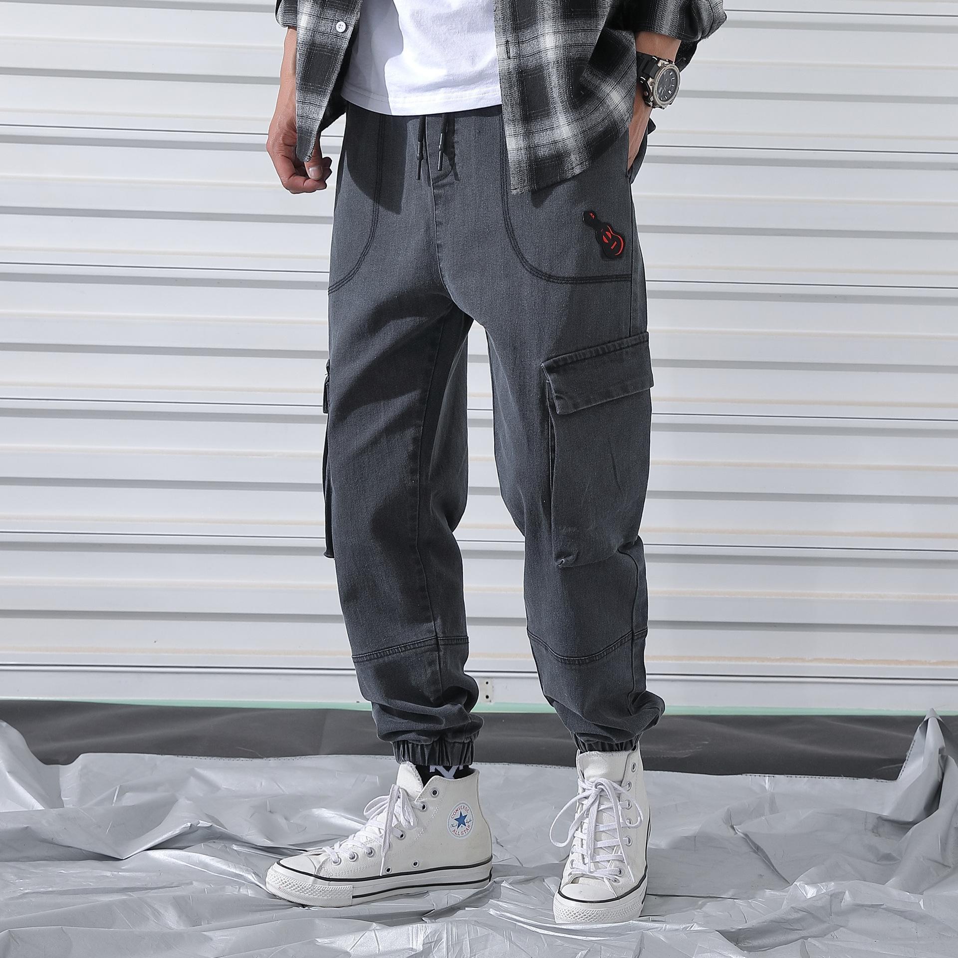 CPNhw Frühling und Herbst Männer Männer angesagte Arbeitskleidung Hosen Fett plus plus Größe Harlan beiläufige Enge Jeans beiläufige Gamaschen Jeanshosen verlieren