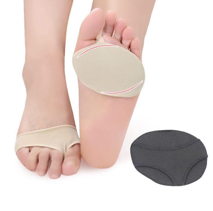Lycra Cloth Fabric Gel Metatarsal Ball Of Foot Insoles Pads Cushions Forefoot Pain Support Front Foot Pad Orthopedic Pad Home Supplies SN