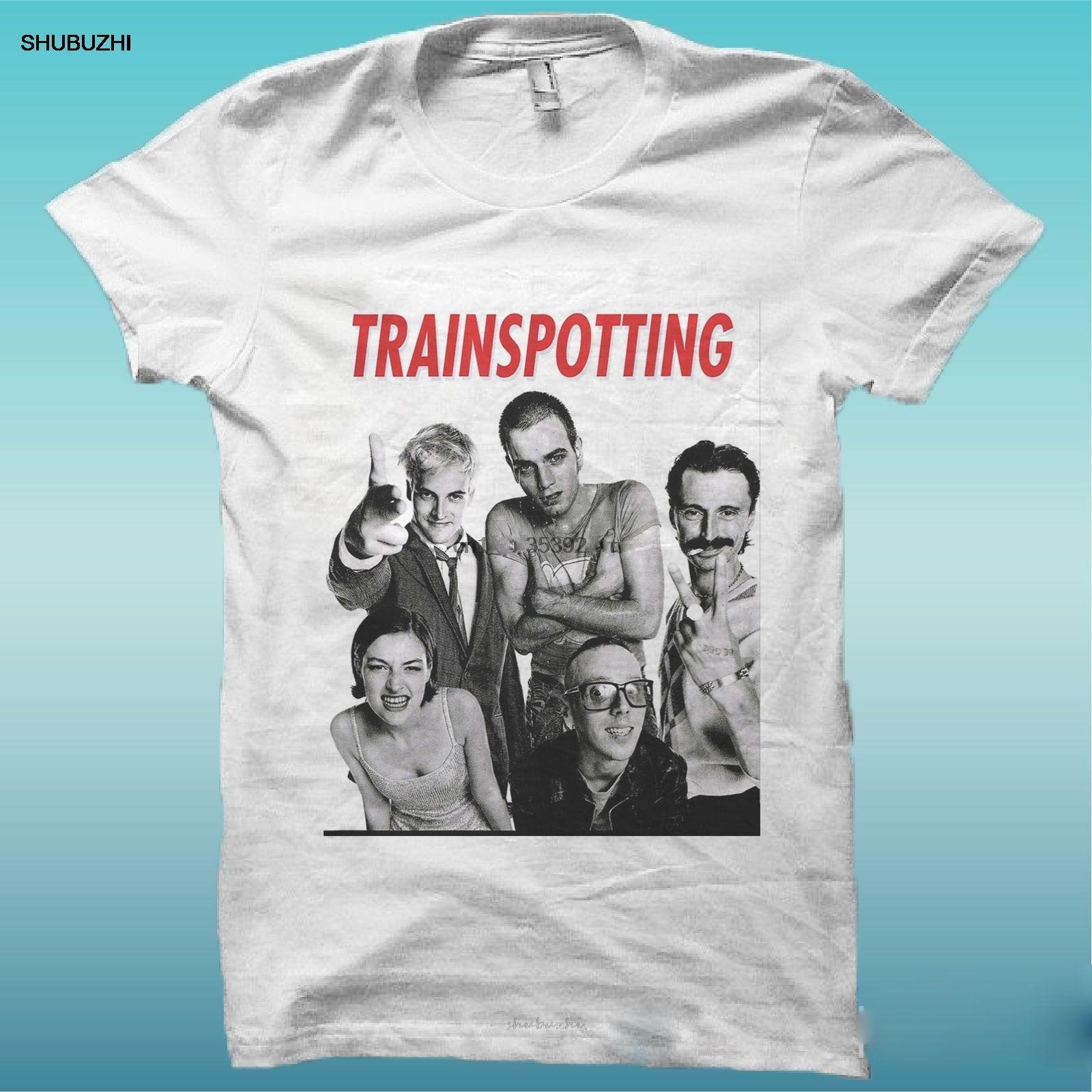 Camiseta de Trainspotting Neue Helden Cine Wei El Gluck es tener mi camiseta de la manera de los hombres Algodón Marca Teeshirt