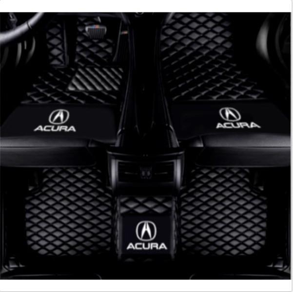 Acura MDX 2007-2020 Lüks özel su geçirmez araba paspaslar için uygundur