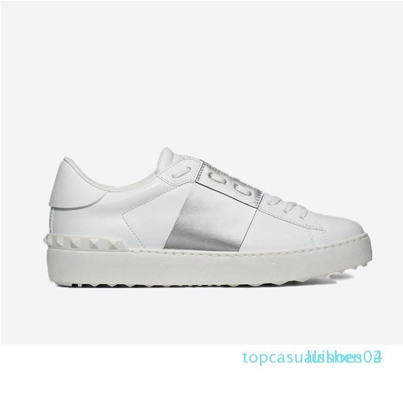 New arrivel desenhista calça branca Moda Menss Mulheres Casual Couro Abrir Low esportes sapatilhas Tamanho 35-46 Com Box t04