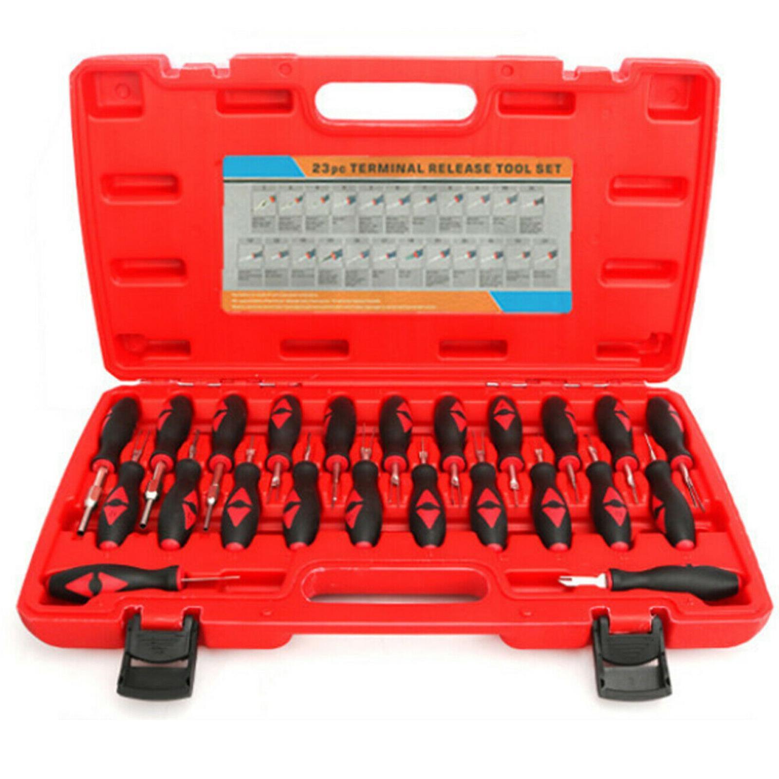 23pcs / set di rimozione universale Automotive Terminal di uscita Remover Tool Kit accessori Accessori auto