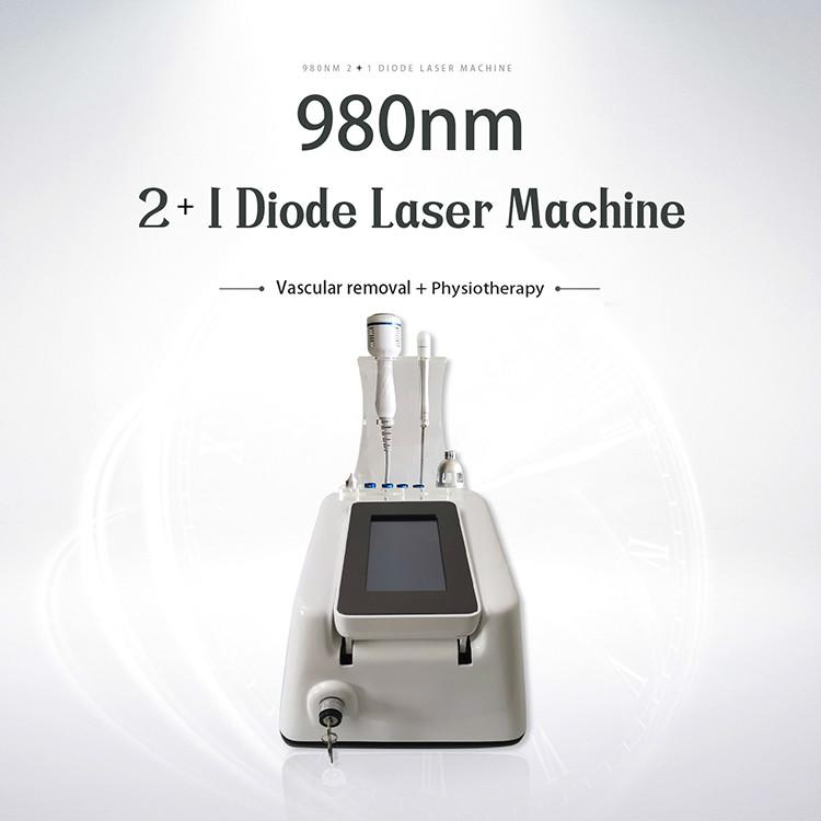 Trattamento unghie fungo rimozione vascolare 30W 980nm diodo laser per il fronte Spider Vein Remover macchina Laser