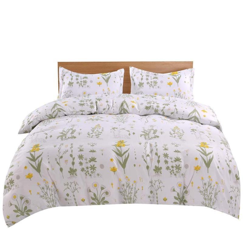 Yellow conjunto de cama Duplo Duplo Queen cover rei edredon conjuntos de cama de microfibra conjunto de roupa de hotel de colcha