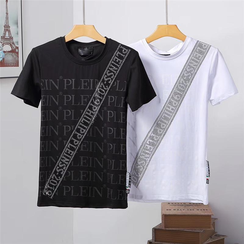 Nova t-shirt carta camisola de malha no outono / inverno 2020 personalizado máquina de jacquard de tricô detalhe tripulação ampliada pescoço de algodão # 10