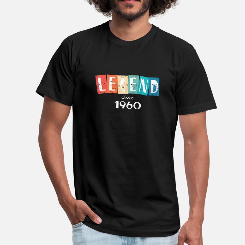 Aniversário camisa Roupa Anti-rugas Edifício verão normal Neck O camisa t homens designer de algodão 1960 Legend Retro