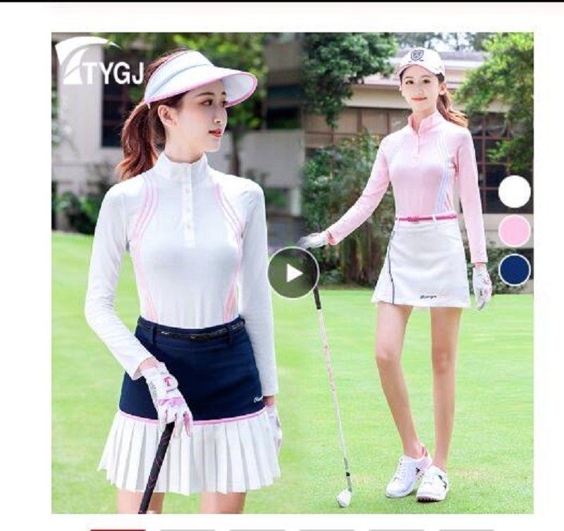 2020 vêtements de golf femmes Top Polos manches longues T-shirt de tennis Fit Dry Ropa De Golf polera Hombre sport Femme Vêtements