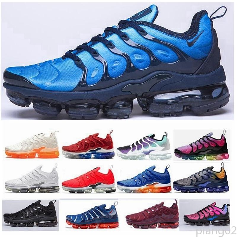 nike air max Flyknit Utility TN Plus TN Inoltre Mens Running Shoes Red Tooth Triple Black White Sport Sneakers pantofola sandali pia02