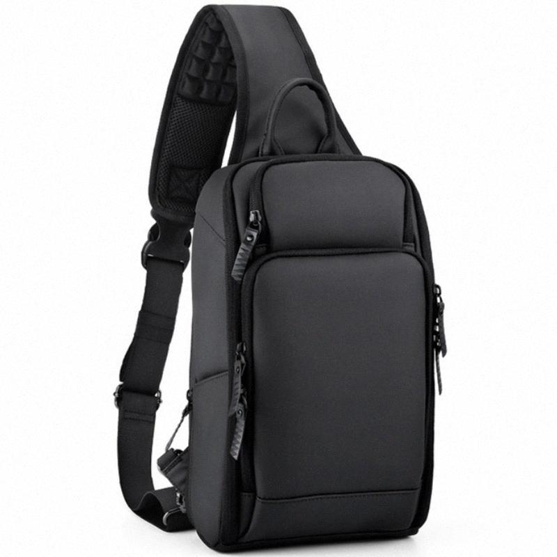 Multifunzione Mens Shoulder Bag Anti Theft Borse Crossbody per gli uomini porta USB Tracolla Messenger LNPB #