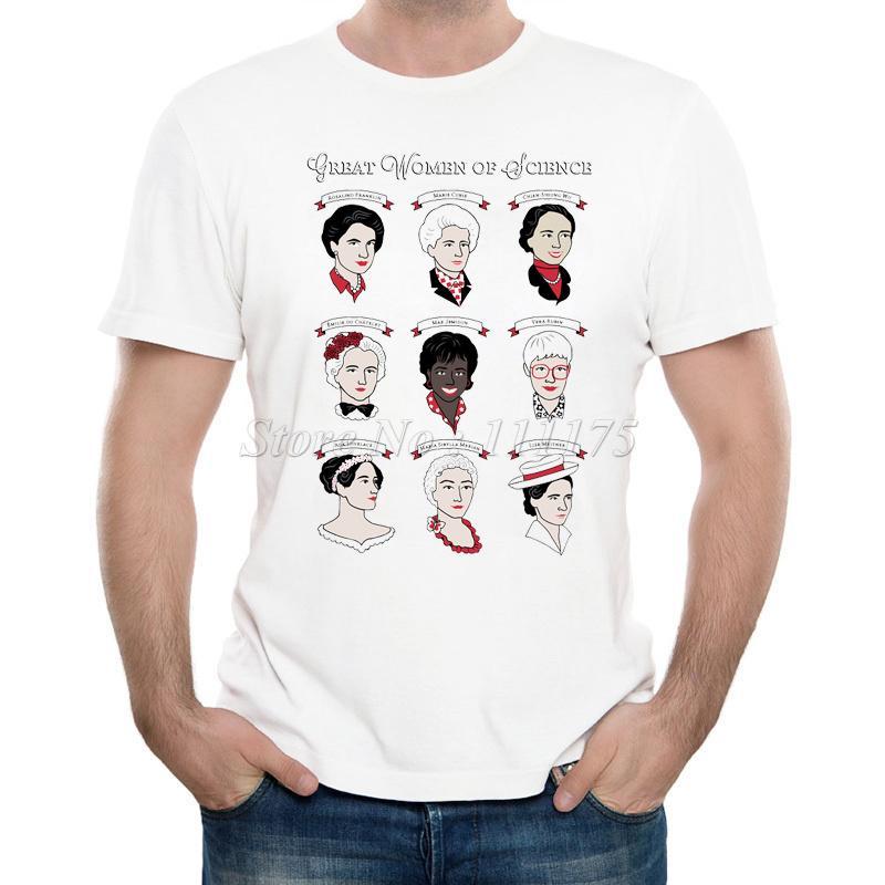 2019 Homens de Moda de Nova Grande mulheres da ciência Impresso T Shirt Verão Design legal Tops manga curta macio Tee