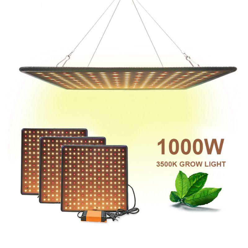 Indoor-LED 1000W 3500K Wachsen-Lichtplatte Vollspektrum Phyto-Lampe Blumenlampen für Pflanzen warmweiß LEDs Fitolamp Wachstumzelt