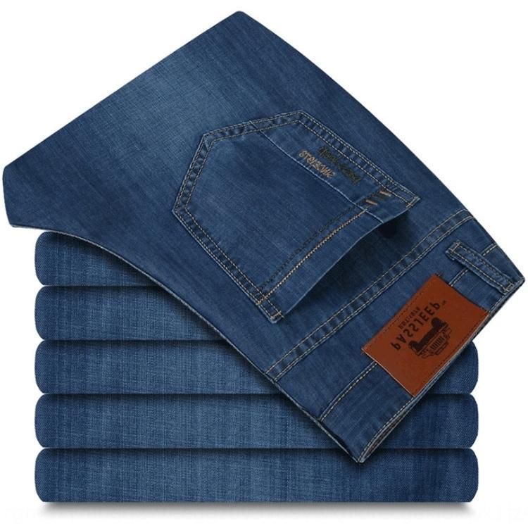 2020 calças primavera casuais e e verão novas roupas calças casuais negócios jeans reta homens jeans homens