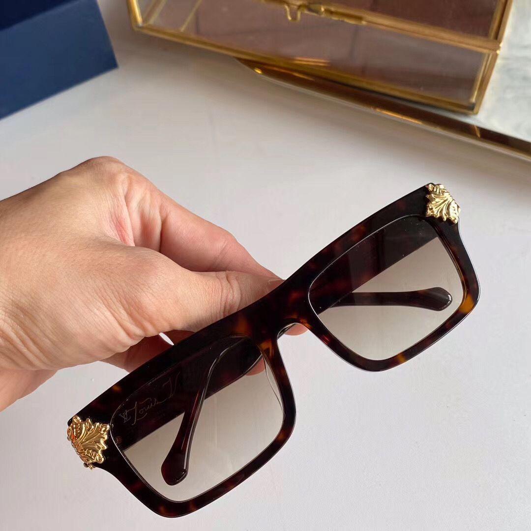 Millionaire Luxury Vintage Square pour plaqué or Z1260e Sunglasses de lunettes de soleil Cadre Hommes Shiny Full Logo Hot Sell Sunglasses Gold Top 202 Rxir