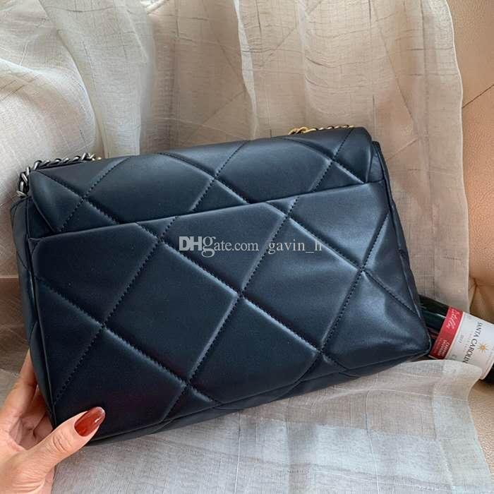 2020 señoras de la venta caliente del bolso del diseño de la cadena de hombro crossbody de alta calidad de cuero real del bolso bolso de las señoras de la moda