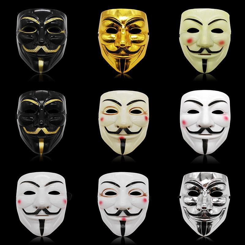Halloween Horror Theme V Вендетта маска V Монстр V-лицо маскарад маски Halloween Birthday Party Mask Dropshipping F2401