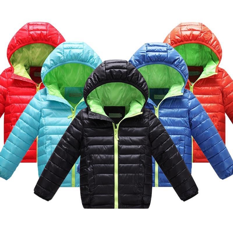 4-12Yrs Meninos Inverno JacketCoat, Baby Meninos Cotton Moda Inverno JacketOutwear, Kids Aqueça Cotton Brasão acolchoado, Meninos Brasão LJ200828