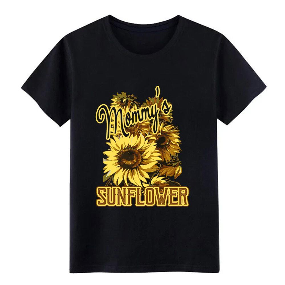 girasol hombres de la camiseta Diseño camiseta con cuello redondo de color sólido Camisa linda respirable fresco de primavera otoño