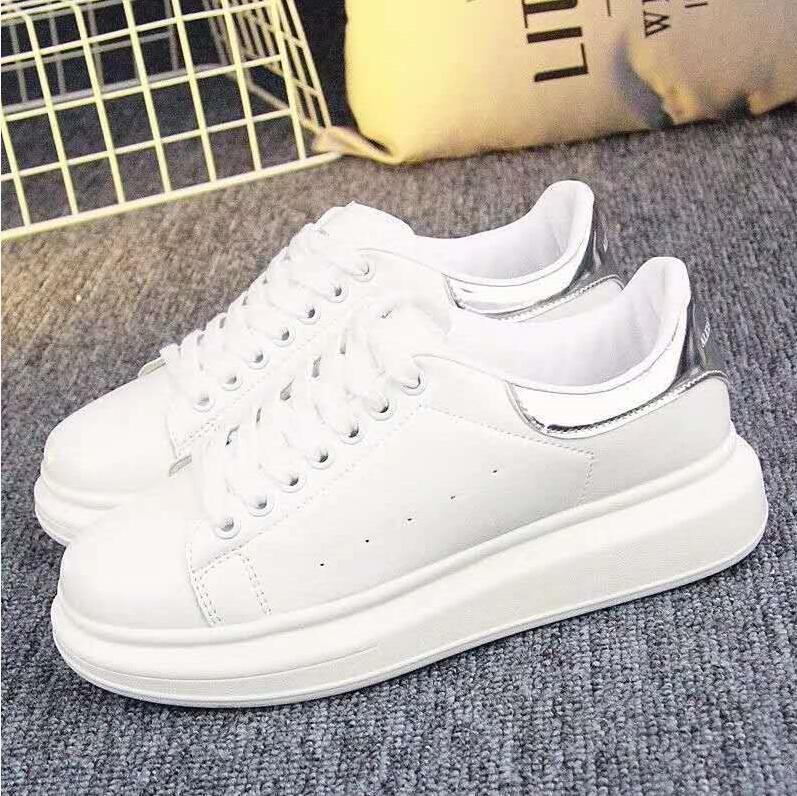 Meilleur QULITY MENS CHAUSSURES CHAUSSURES CHAUSSURES Beautiful Plate-forme Casual Sneakers de luxe Designers Chaussures Cuir Couleurs Solid Couleurs Soin U23