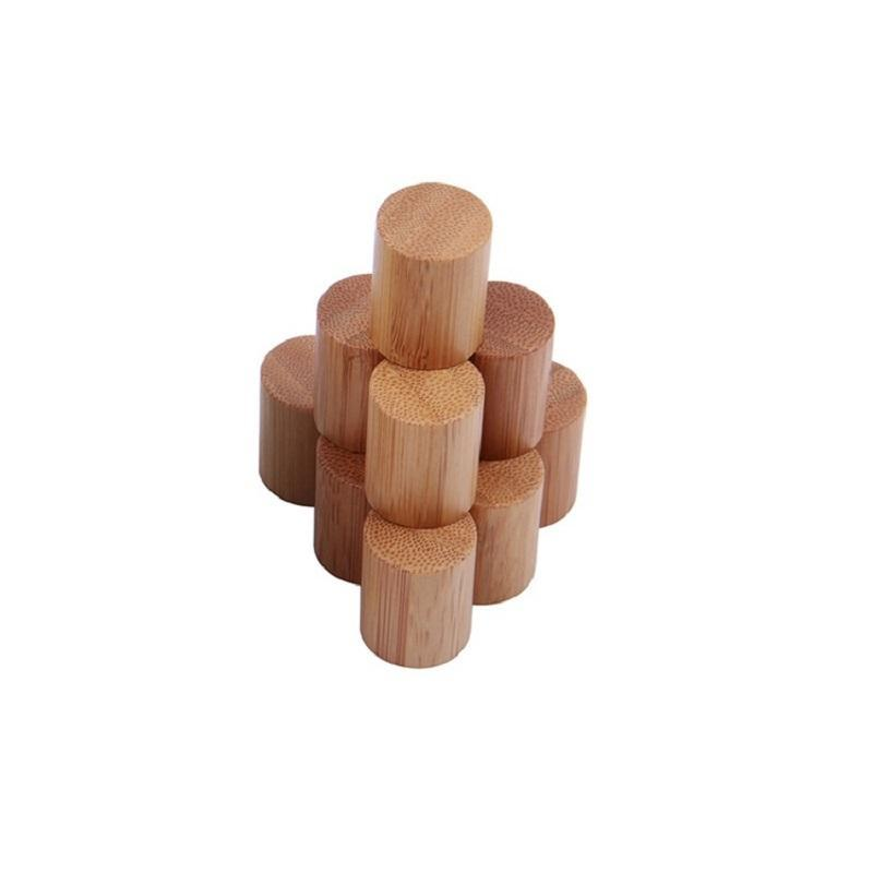 5ml 10ml Olio Essenziale Cono Cristallo rullo sulla bottiglia con rullo di bambù naturale Cap sfera in acciaio inossidabile di vetro libera Roll On