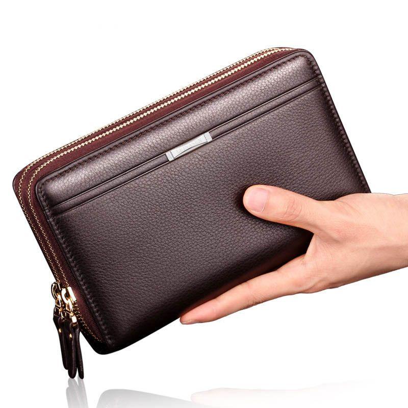 متعددة الوظائف الرجال المحفظة طويلة محفظة جلدية رجل عملة جيب خمر الرجال المحفظة محافظ العليا quatily ذكر حامل البطاقة WJJDZ الأعمال