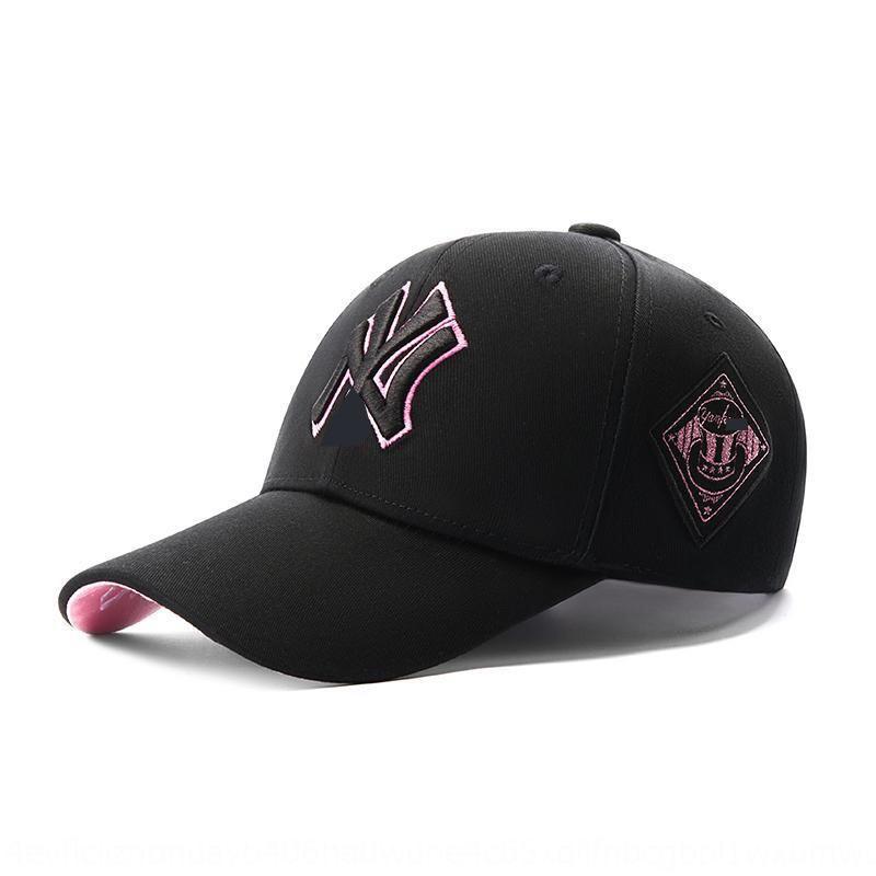 2020 Nuevo ya lado insignia bordada estilo coreano Yankees en punta gorra de béisbol Béisbol ins ocasional de la manera del todo-fósforo casquillo enarbolado