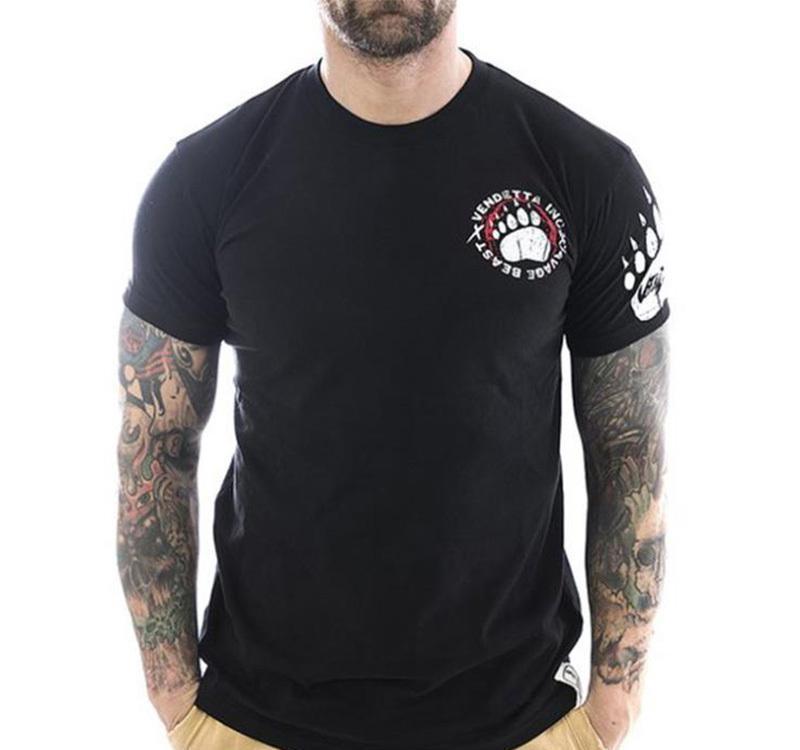 Nuovo uomini in cotone a manica corta maglietta fitness bodybuilding camicie Crossfitsmale Marca tee in cima mens palestre moda T-shirt MX200611 costume