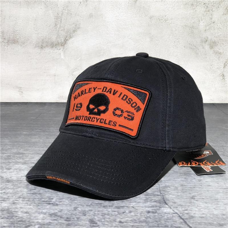 Alta qualità Harley lavare a punta di baseball baseball del cotone berretto foro berretto a visiera per gli uomini
