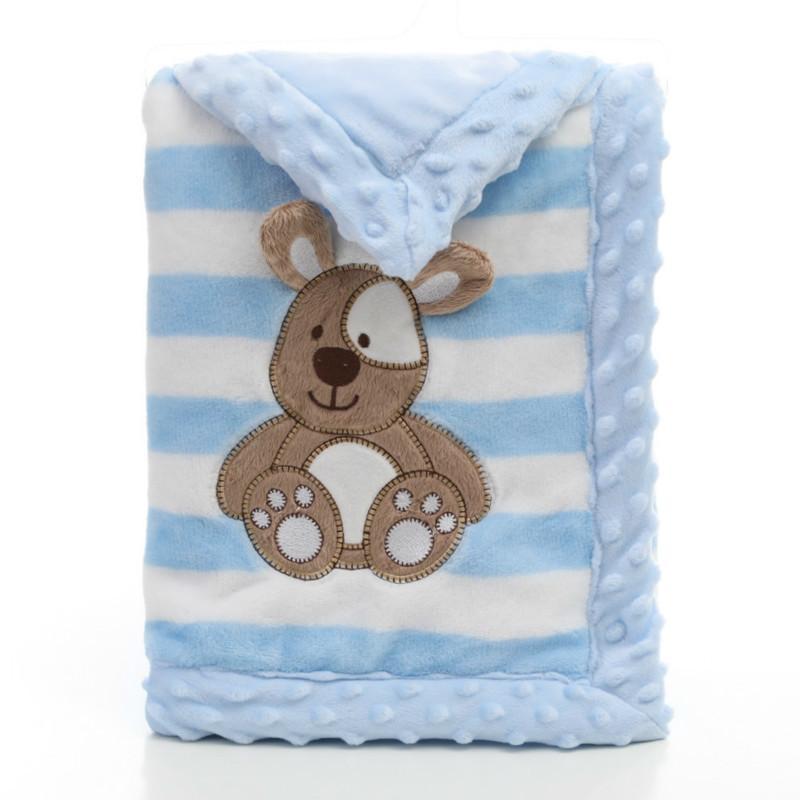 Addensare Copertina per bebè appena nato flanella Swaddle Busta bambino Coperte per infantile caldo molle Wrap coperte ricamate
