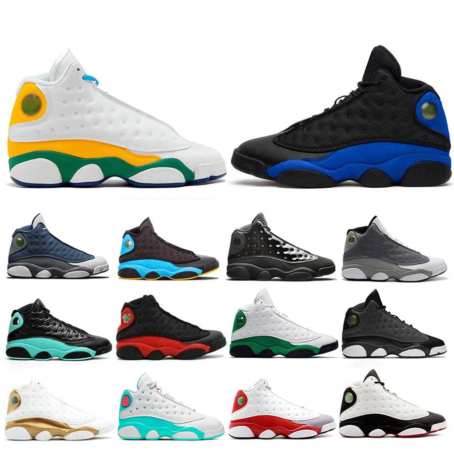 2020 Новый Hyper Royal площадка 13 Flint Мужчины Баскетбол обувь Разводят Чикаго Остров Лаки Зеленый 13s DMP Мужские Женские Кроссовки спортивные кроссовки