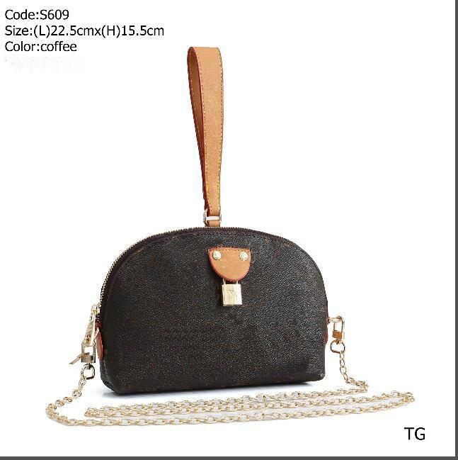 Новый женщины сумка плеча Досуг Crossbody цепи сумки Мода Малые Сумка Lady сумки искусственная кожа M40718 22.5x15.5cm