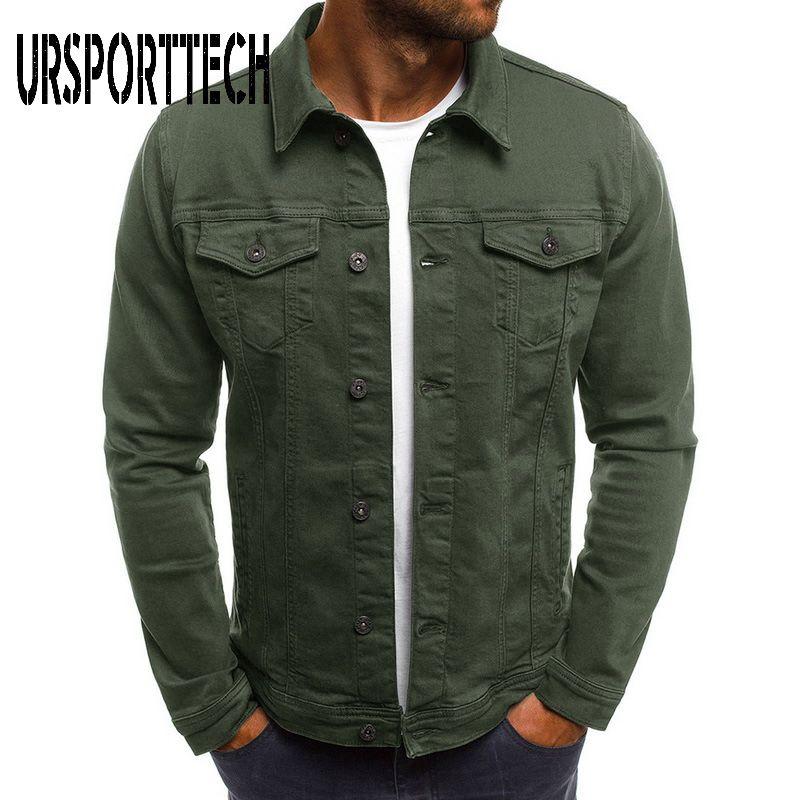 2021 New Jackets Men Denim Jacket Plus Size Arrival Clothing Slim High Jeans Men Casual Streetwear Vintage Fashion Jean Quality Inkrx