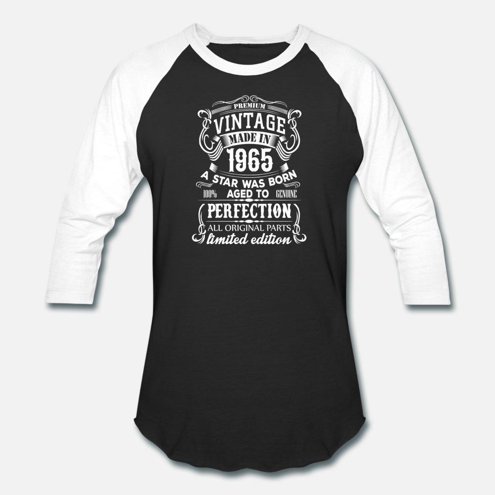 Vintage 1965 uomini della maglietta lavorato a maglia cotone formato S-3XL lettere luce solare divertente camicia Tempo libero estate casuale