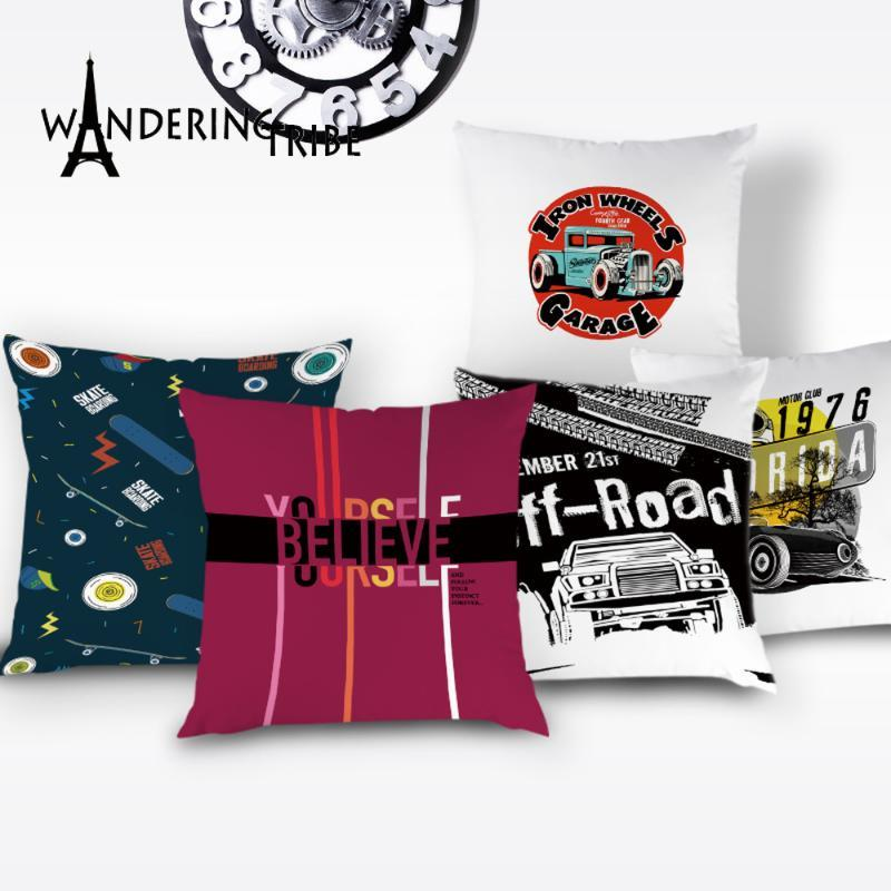Art Nouveau Letter Cushion Cover Off Road Pillows Home Decoration Sofa Throw Pillows Case New York Decor Cushions Covers Kissen