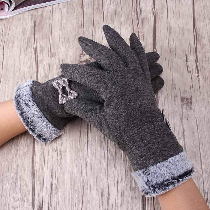 Miya Mona alta calidad mujeres elegantes guantes calientes del invierno Finger arco suave de muñeca mitones de cachemir guantes de la pantalla completa Touchable