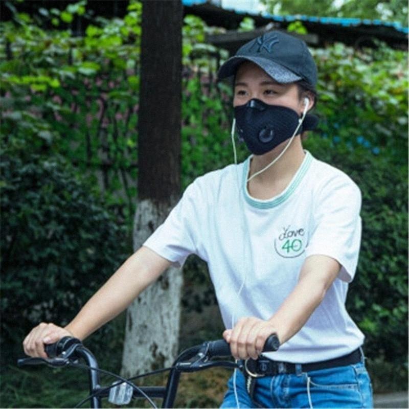 Lucha contra el algodón libre de PM2,5! Haze anti anti-polvo facial activado ciclo del carbono Máscara de filtro Boca-mufla ePGV #