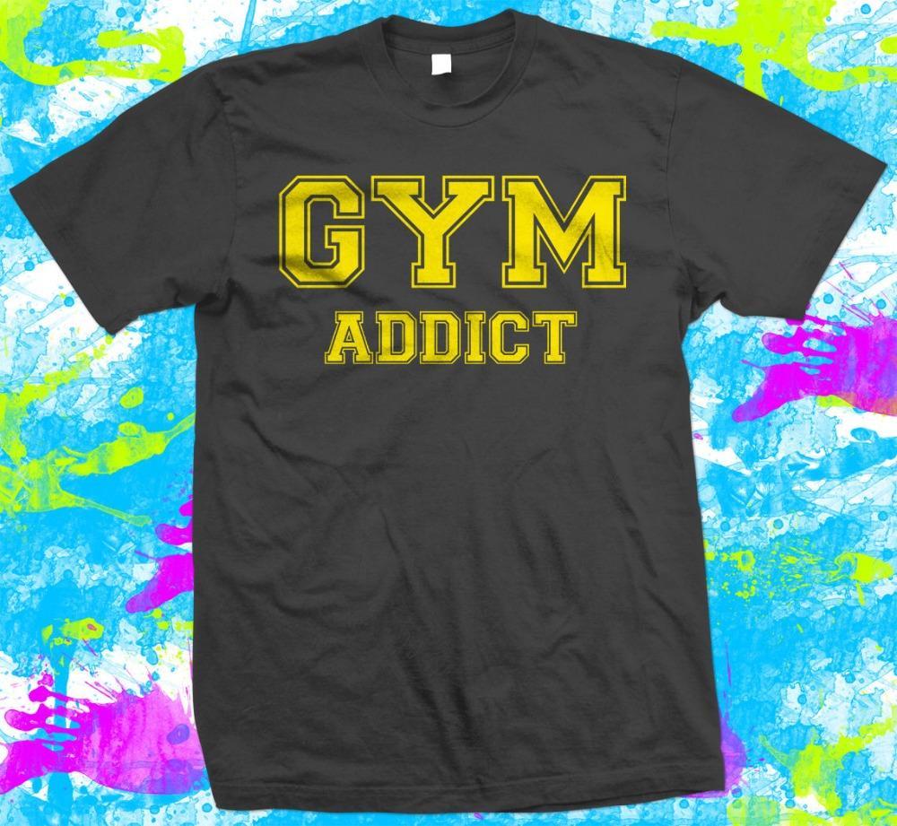 Gym Addict - T-Shirt-Marken-Männer 2019 Mode-Rundhalsausschnitt Best Selling Male Naturbaumwollhemd-Erwachsen-T-Shirt