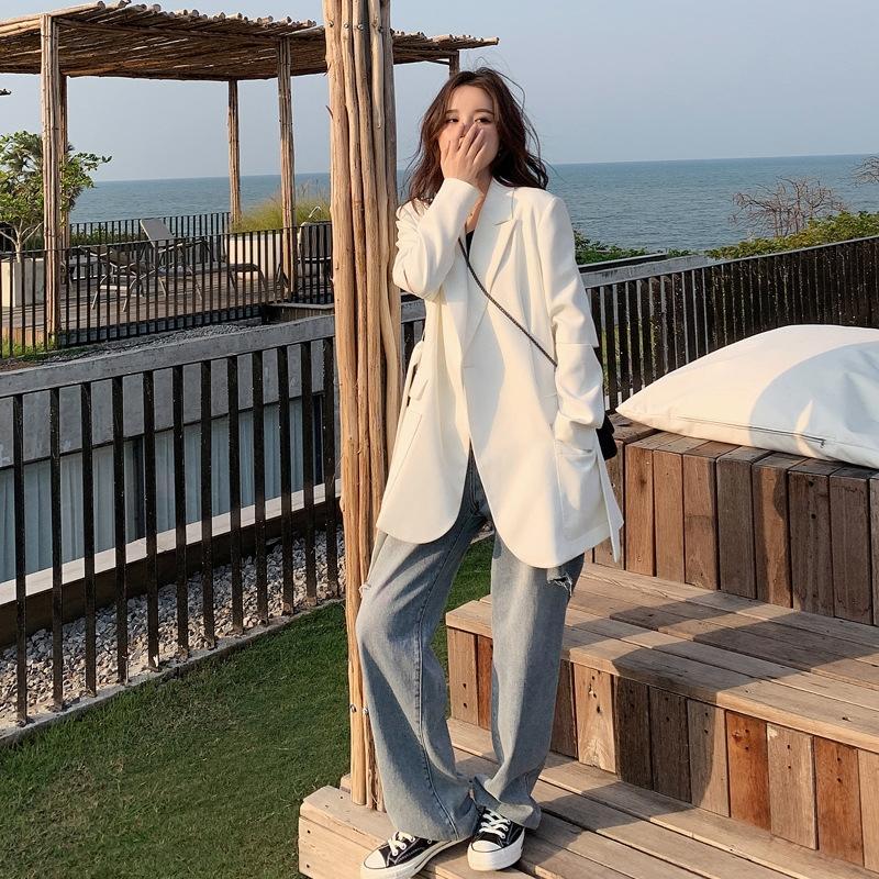sQ6nW Bianco coreano stile Internet Celebrity piccolo vestito per le donne 2020 primavera e l'autunno casacca senso di progettazione giacca nicchia per wome