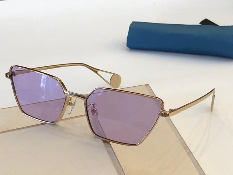 جديد فاخر 0538S مصمم النظارات الشمسية للنساء الأزياء التفاف الشمس الطيار إطار الطلاء مرآة عدسة الكربون الألياف الساقين الصيف نمط 0538