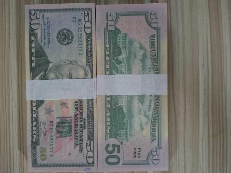 50 dollari falsi Bill UK Pound placcato oro Banconote Inghilterra banconote carta moneta casa Collecti7 decorativo