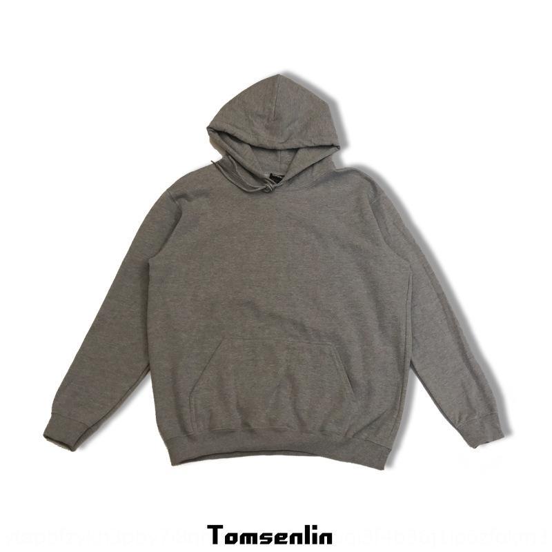 X8nl6 oJHiN 2019 Invierno estilo de Corea versión de color sólido suéter con capucha OVSERSIZE 8 suéter con capucha de color 285g con tela de terciopelo