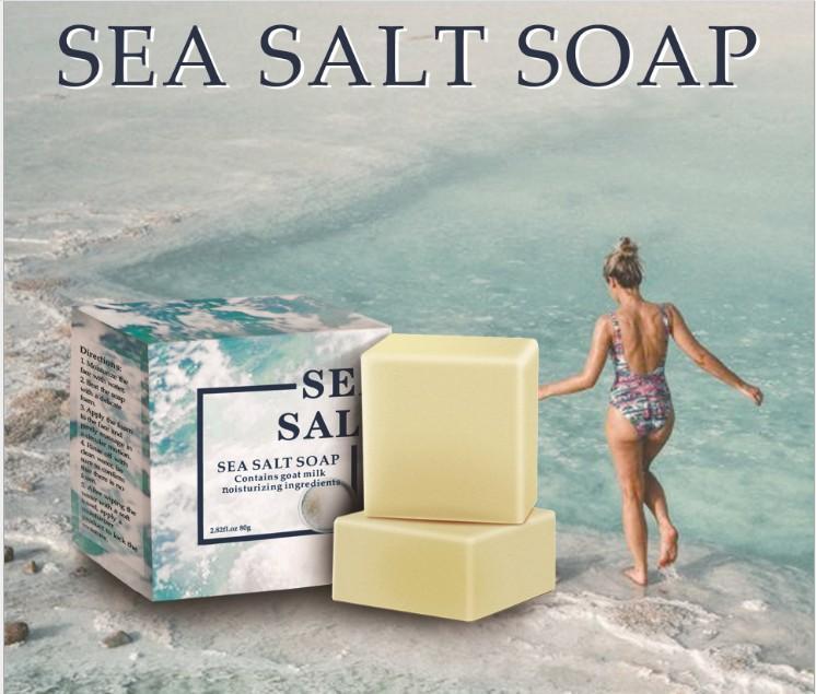 바다 소금, 진드기 제어, 오일 컨트롤, 황 세척 얼굴, 양의 우유, 페이셜 클렌저, 에센셜 오일, 비누, 80g 손 비누